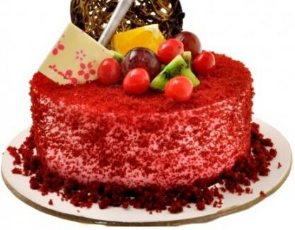 Red Velvet Cake Sugar Crown